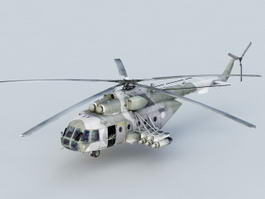 Mi-171 Multipurpose Helicopter 3d model preview