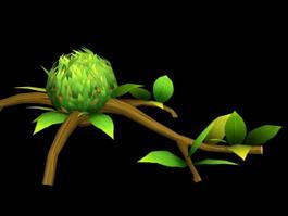 Cartoon Tree Branch 3d preview