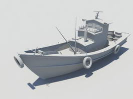 Old Fishing Boat 3d preview