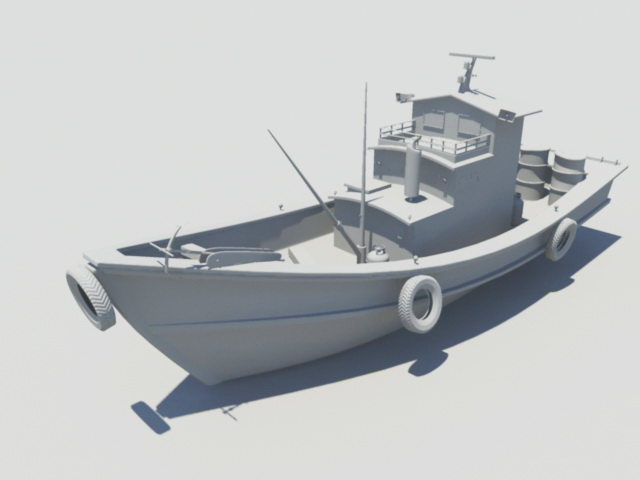 Old Fishing Boat 3d rendering