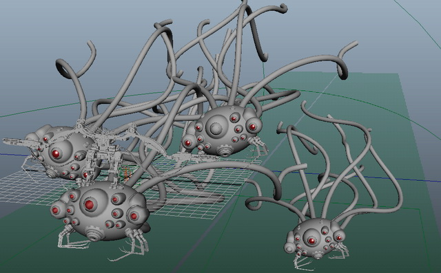 The Matrix Sentinels 3d rendering