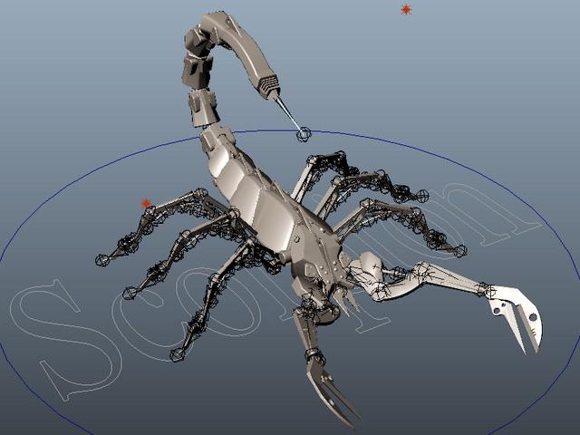 Robot Scorpion Rig 3d rendering