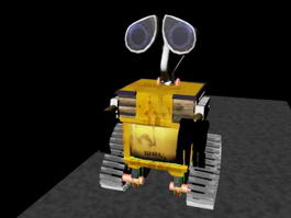 Wall-E Robot Rig 3d preview