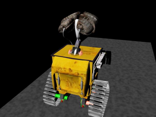 Wall-E Robot Rig 3d rendering