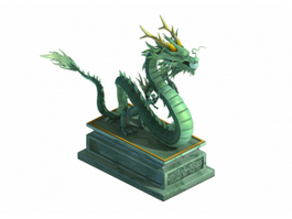 Ancient Chinese Dragon Statue 3d preview