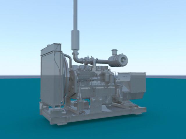 Diesel Generator Set 3d rendering