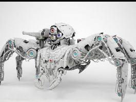 Mecha Spider Rig 3d model preview