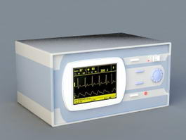 Surgical Heart Monitor 3d preview