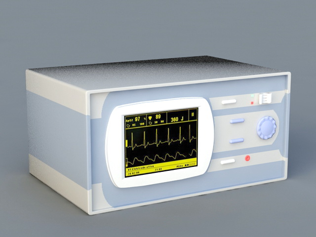 Surgical Heart Monitor 3d rendering