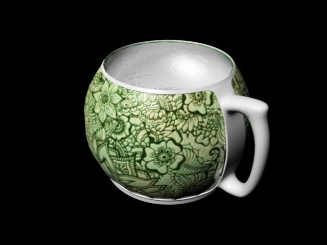 Fancy Mug 3d rendering