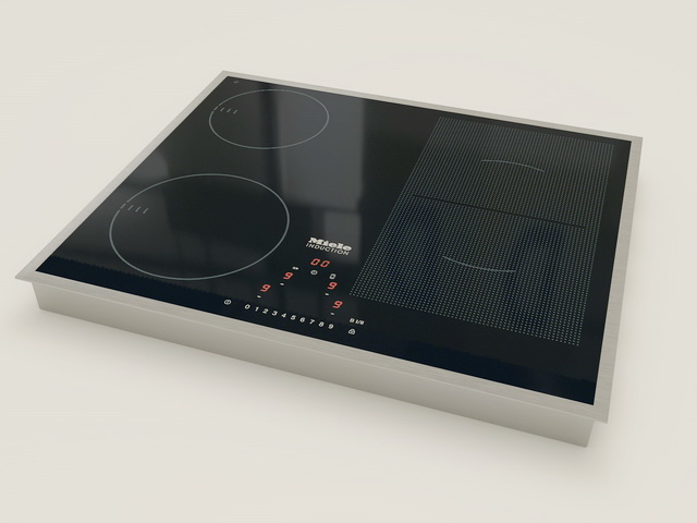 Induction Cooking 3d rendering