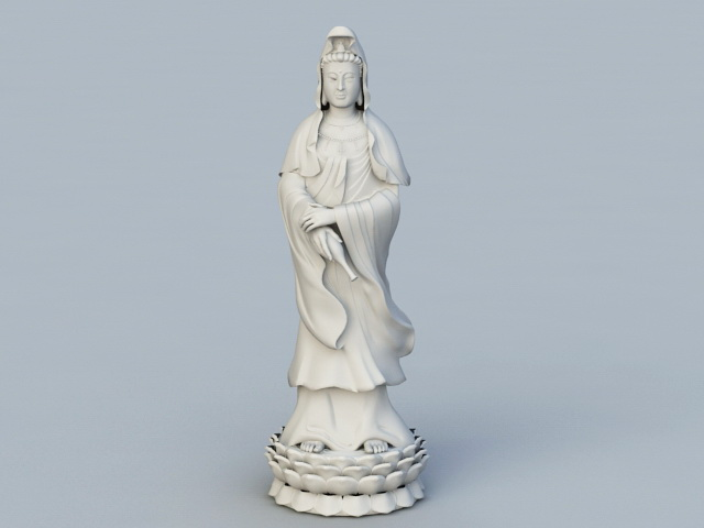 Chinese Goddess Statues 3d rendering