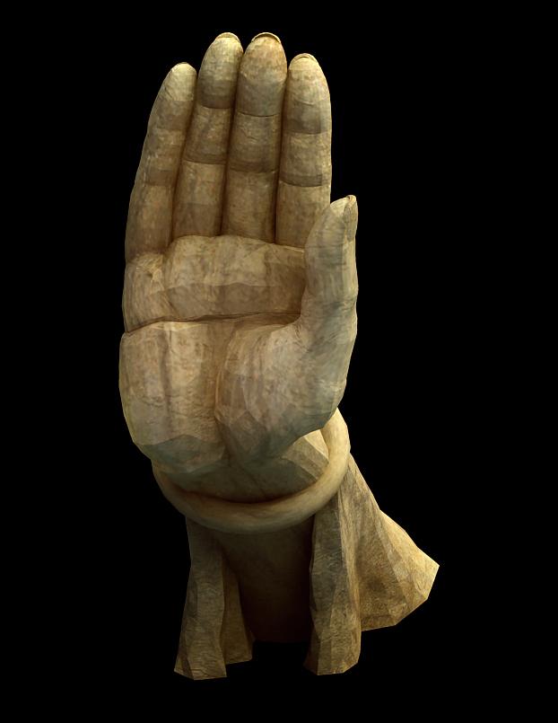 Buddha Hand Statue 3d rendering