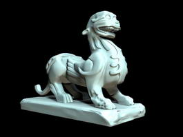 Chinese Pixiu Statue 3d preview