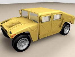 Hummer Humvee Military Vehicle 3d preview