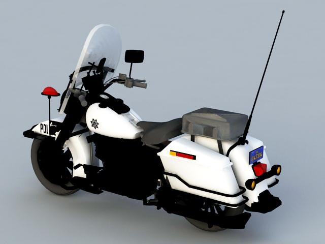 Police Motorcycle 3d rendering