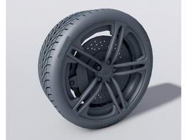 Audi Wheel 3d preview