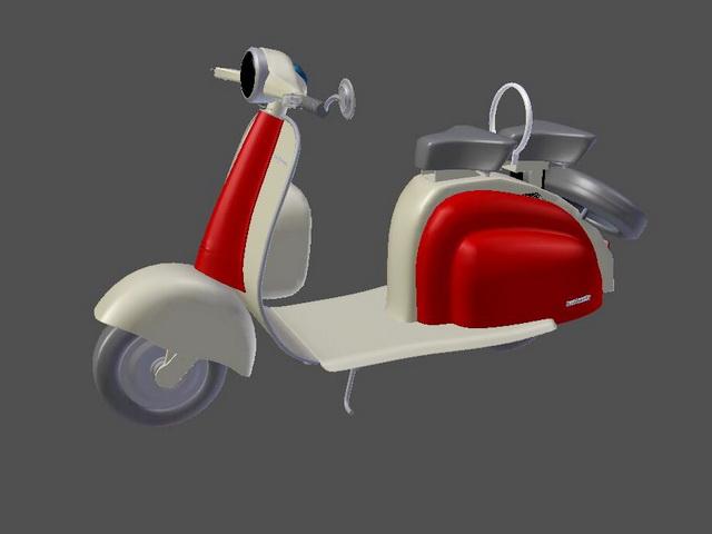 Lambretta Scooter 3d rendering
