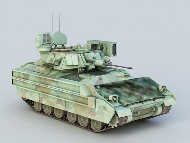 United Defense M2 Bradley Statesman IFV 3d rendering