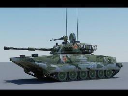 Type 99 Tank 3d model preview