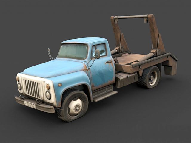 GAZ-52 Tow Truck 3d rendering