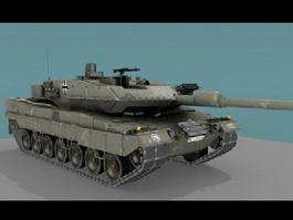 Leopard 2A6 Tank 3d model preview