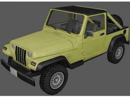 Jeep Wrangler Pickup Truck 3d preview