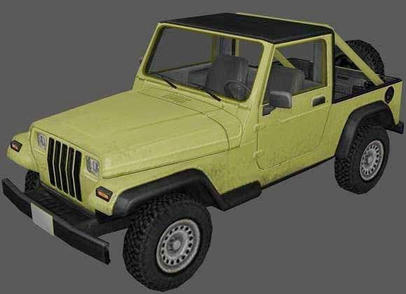 Jeep Wrangler Pickup Truck 3d rendering