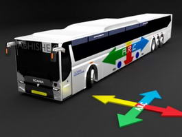 Scania Bus 3d preview