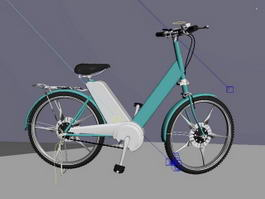 Ladies Retro Bicycle 3d preview