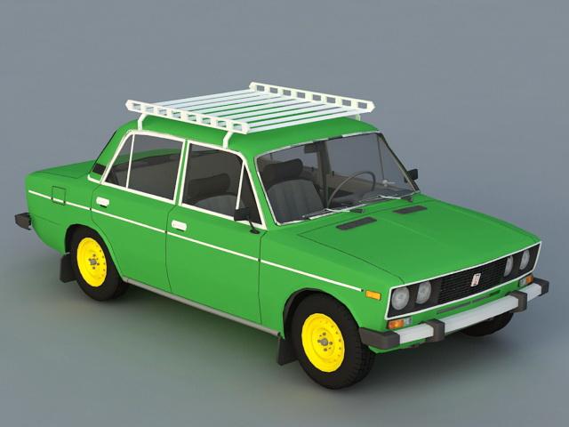VAZ-2106 Car 3d rendering