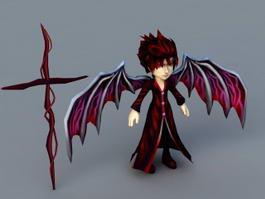 Anime Demon Boy 3d model preview