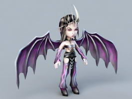 Anime Demon Girl 3d preview
