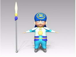 Ancient China Soldier Cartoon 3d preview