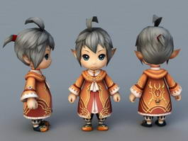 Chibi Elf Boy 3d preview