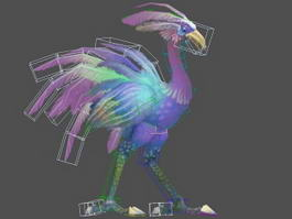 Red Hawkstrider Rig 3d model preview