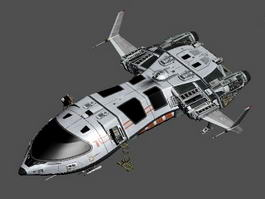 Futuristic Spaceship Concept 3d preview