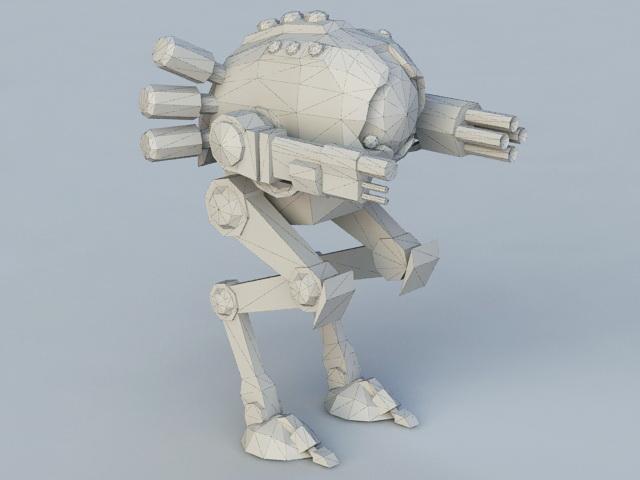 Future Mech Walker 3d rendering