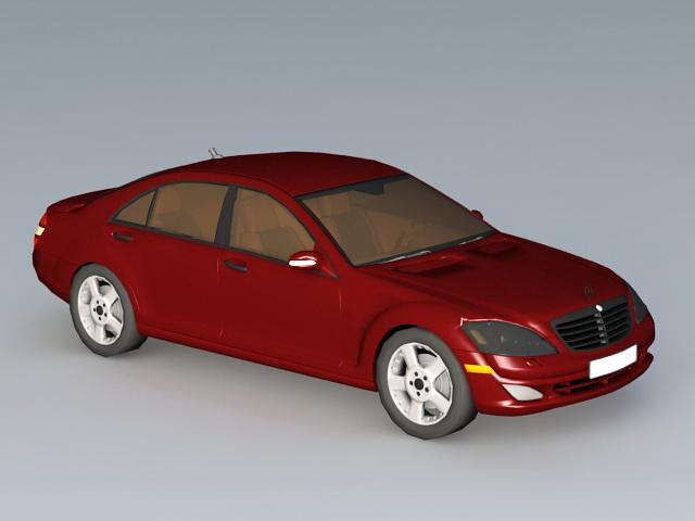 Mercedes E-Class 3d rendering
