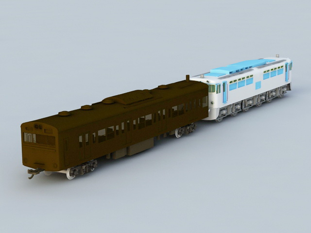 Locomotive Train 3d rendering