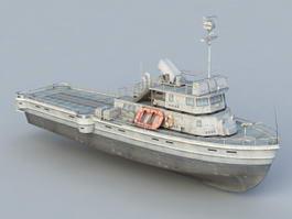 Missile Boat 3d model preview