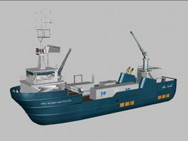 Commercial Fishing Vessel 3d preview