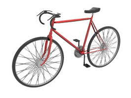 Bicycle Road Bike 3d model preview