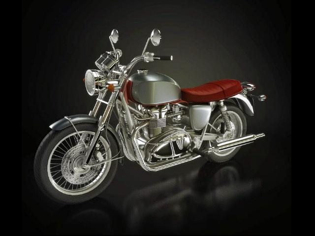 Cruiser Motorcycle 3d rendering
