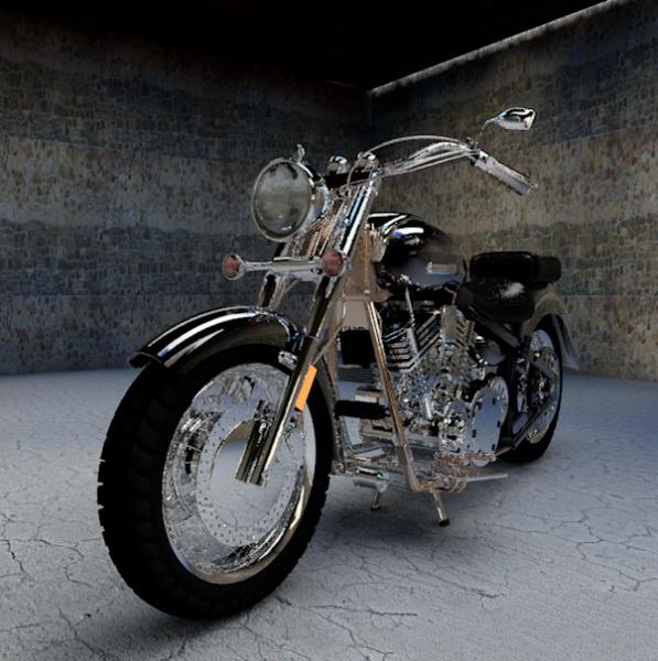 Yamaha Motorcycle 3d rendering