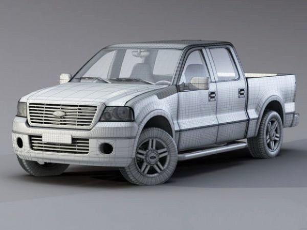 Ford F-150 Platinum 3d rendering