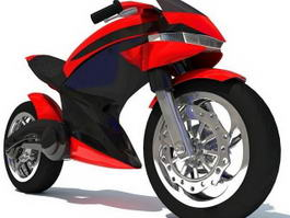 Futuristic Motorcycle 3d preview
