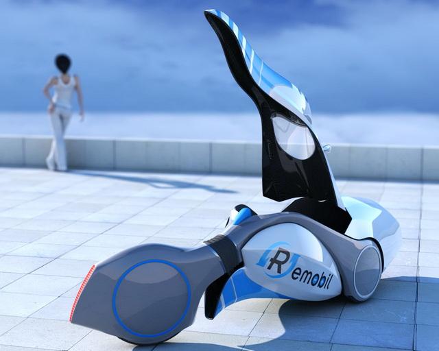 Future Velomobile 3d rendering