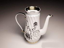 Pottery Teapot Coffee Pot 3d preview