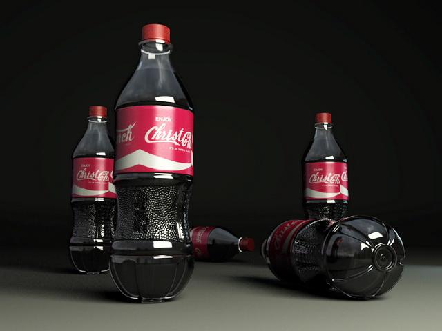 Coca-Cola Bottles 3d rendering